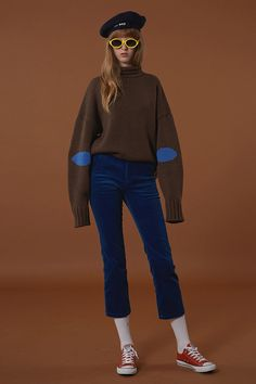 Winter knitwear from minimal cool Korean fashion label ADER Error from oversize turtleneck sweaters with long sleeves to super rad sweater dresses.
