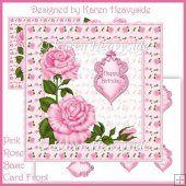 Pink Rose Basic Card Front