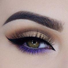 Purple Eye Makeup, Makeup Eye Looks, Beautiful Eye Makeup, Eye Makeup Art, Pretty Makeup, Skin Makeup, Eyeshadow Makeup, Makeup Inspo, Makeup Ideas