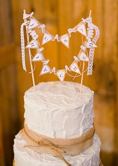 Cake topper // Photo by http://cynkainphotography.com, see more: http://theeverylastdetail.com/rustic-chic-pennsylvania-barn-wedding/