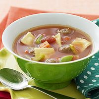 Kids will like the mini cheese ravioli used in this main dish soup. It's made with ground turkey, which keeps it low in fat and calories.