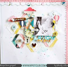 Just look at all the stunning detail on this gorgeous layout created by @flisw using our #may2017 #hipkits!  @hipkitclub #hkcexclusives #exclusives #hipkitclub #hipkit #hipkitexclusives #mixedmedia #watercolors @shimelle #littlebylittle #papercrafting #kitclub #scrapbookkits #scrapbookingkitclub #scrapbooking #layers #textures #handstitching