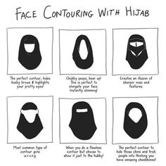 contouring with hijab