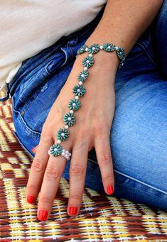 Slave Bracelet / Beaded Slave Bracelet / Beaded by Ranitit on Etsy