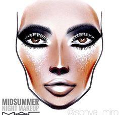 Midsummer Night Makeup MAC Face Chart