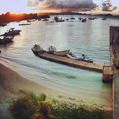 #sunset tonight in Cruz Bay #usvi #caribbean #travel via stj spice webcam