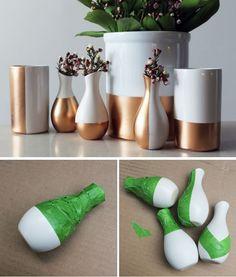 Copper dipped vases tutorial