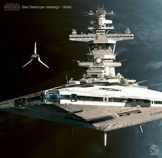 This Star Wars Star Destroyer Redesign Is Badass - MightyMega Nave Star Wars, Star Wars Rpg, Star Wars Ships, Star Destroyer, Constellations, Arte Sci Fi, Star Wars Spaceships, Star Wars Vehicles, Star Wars Concept Art