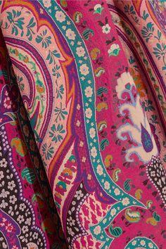 Etro - Ruffled Floral-print Silk Dress - Pink - IT48