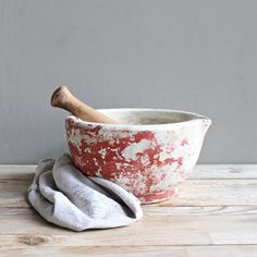 Vintage French Apothecary Mortar and Pestle