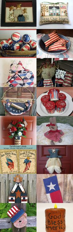 Nothing makes me smile like the RED WHITE and BLUE of teamHAHA by primchick on Etsy--Pinned with TreasuryPin.com