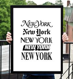 Bring the spirit of New York to your home with this printable typography art design from The Motivated Type. It features an iconic series of New