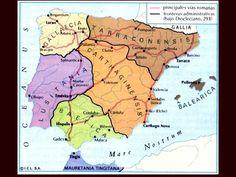 Organización de Hispania en tiempos de Diocleciano. Spain History, World History, Art History, Map Of Spain, Geography Map, Historical Maps, Genealogy, Planer, How To Plan