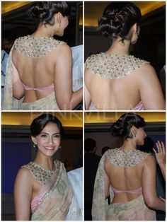 Sonam Kapoor in Shehla Khan....the back of the blouse is . Sooooo gorgeous!