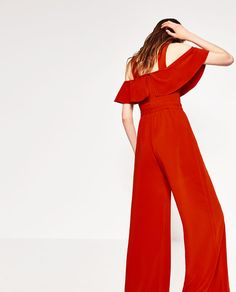 Image 4 of FRILLED JUMPSUIT from Zara LOVE the frilled detail and color!
