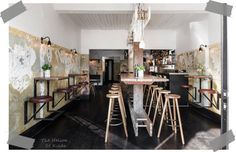 The Nelsons is a rustic and industrial bar design in Melbourne with industrial and vintage mood - ITALIANBARK interior design blog