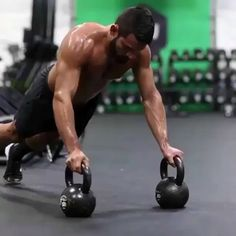 Try this kettlebell complex  -3 drop push up -3 squat to press -3 swing -3 times through back to back -4 to 6 rounds -plenty of rest…