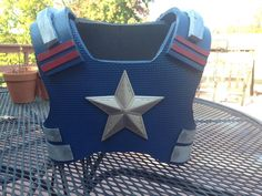 Captain America Breastplate Front from foam
