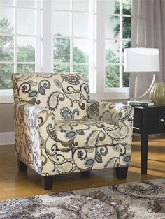 Yvette Casual Steel Upholstery Fabric Chair