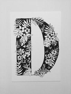 Flores letra D
