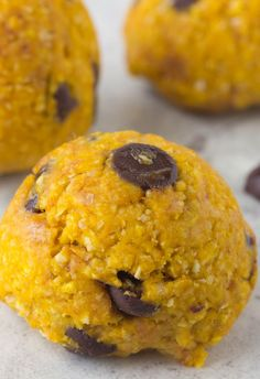 Simple no bake treat and get a dose of pumpkin with oatmeal pumpkin cookie dough bites