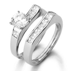 Justeel Jewelry Stainless Steel Couple Ring Band Silver White Cubic Zirconia Wedding Justeel Jewelry. $19.99. Excellent Luster and Unimpeachable Rust and Corruption Resistance. 100% Nickel free. Shipping takes 2-3 weeks from China (USPS Tracking). Size HxWxL: x0.3xinch; (x8xmm)