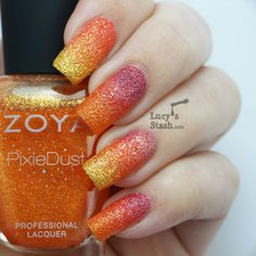 Gradient with Zoya PixieDust Summer polishes | Lucy's Stash