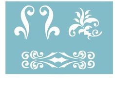 """STENCIL WALL STENCILS PATTERN 12.99""""x9.05"""" Airbrush TEMPLATE LARGE noble"""