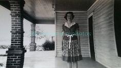 Vintage photo..companys here! 1940s woman on her big porch.  We have carefully scoured piles of vintage photos and paper ephemera to bring you a unique selection of vintage snapshots and vernacular photography, real photo postcards, cdvs, 35mm photo slides and Kodachrome slides. We offer original photos and downloads. If you purchase a 35mm photo slide or a Kodachrome slide and do not have a scanner please convo me and for a small additional charge I will scan the image and email it to you…