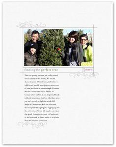 Finding the Perfect Tree - Digital Scrapbooking Ideas - DesignerDigitals