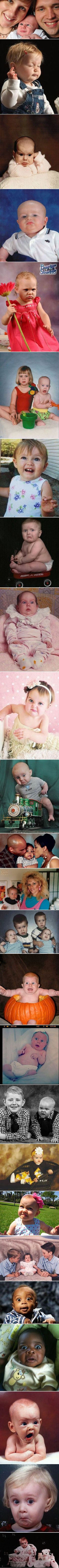 Funny kids and baby photographs taken at the perfectly wrong time.:
