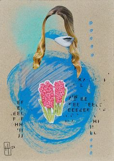 """""""Entre Palavras"""" , 2015 handmade collage by Hannah23 [ collage + soft pastel +acrilic + decalque + words at wind ]  #hannah23 #collage #h23collagem"""