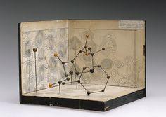 Molecular model of Penicillin by Dorothy Hodgkin by Science Museum London on Flickr.  Molecular model of Penicillin by Dorothy Hodgkin, c.1945. Front three quarter. Graduated grey background.