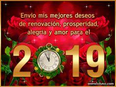 Tarjetas para Año Nuevo 2019 Happy New Year Gif, Happy New Year Quotes, Quotes About New Year, Happy New Year Greetings, Christmas Wishes, Thanksgiving Wishes, Christmas Bulbs, Christmas Music, Merry Christmas