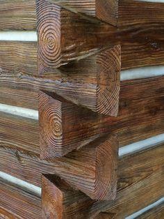 EverLasting Concrete Log Siding - Cedar Wood Look Log Cabin Siding, Log Cabin Homes, Log Cabins, Cordwood Homes, Concrete Siding, Mobile Home Exteriors, Timber Logs, How To Build A Log Cabin, Siding Options