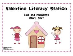This literacy work station includes 36 CVC heart cards, 6 blank heart cards, a sorting board, and a station recording sheet.  All materials can be ...