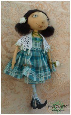 Текстильная кукла Лизавета.