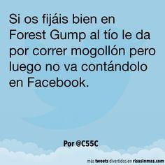 Forrest Gump y Facebook. #humor #risa #graciosas #chistosas #divertidas