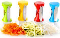 Descubre una forma fácil y rápida de hacer espirales de verduras con un simple gesto, en Whole Kitchen te presentamos Spirelli de Gefu, el espirilizador
