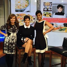 So much fun talking food, family & new cook book #InTheKitchenwithKris with the one and only @krisjenner this week! #newyorklivetv #krisjenner #kardashian
