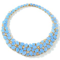 "Couture Jewelry by Adrienne ""Bubbles"" Diamonite CZ and Blue Quartzite 18"" Necklace at HSN.com"
