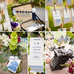 What a beautiful wedding, love the #escort cards