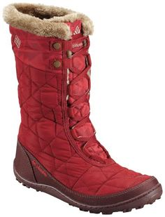 Winter toes will be toasty warm in these great Columbia Boots Women's Minx™ Mid II Omni-Heat™ Print - Red Dahlia, Oxford Tan - 1566941 Warm Winter Boots, Winter Gear, Minimalist Shoes, Columbia Sportswear, Look Cool, Snow Boots, Shoe Bag, Shoe Closet, Encouragement Ideas
