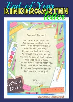 farewell to student letters | Really cute teacher goodbye letter to students (primary grades)