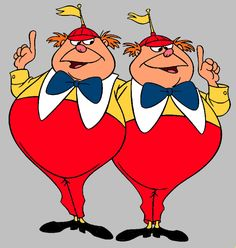 tweedledum and tweedledee   Tweedledee and Tweedledum Clipart from Disney's…