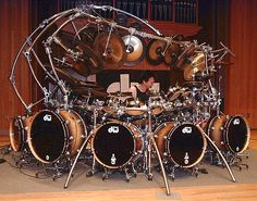 You can never have too many drums. This is Terry Bozzio, world reknowned drummer. Sound Of Music, Kinds Of Music, Soul Music, Terry Bozzio, Trommler, Les Artisans, Drummer Boy, Drummer Gifts, How To Play Drums
