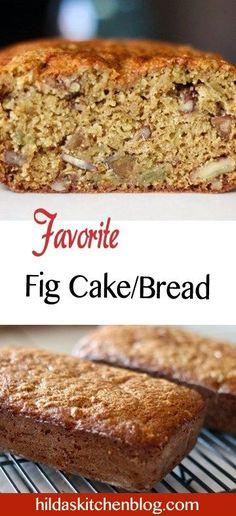 fig cake recipe Fig Dessert, Dessert Bread, Bread Recipes, Cake Recipes, Cooking Recipes, Kitchen Recipes, Fig Bread, Fig Quick Bread, Fig Preserves Recipe