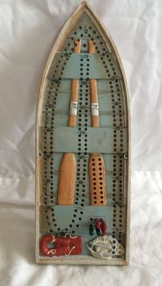 Outside Inside Tin Boat Cribbage Board Peg Card Game  #OutsideInside