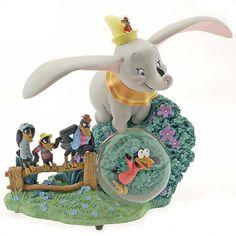 Disney Limited Edition Snowglobes: A Jumbo Dumbo Musical Snowglobe