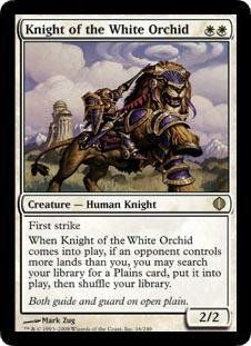Magic: the Gathering - Knight of the White Orchid - Shards of Alara Champs, Magic The Gathering Cards, Magic Cards, White Orchids, Wizards Of The Coast, Classic Toys, Game Art, Card Games, The Originals